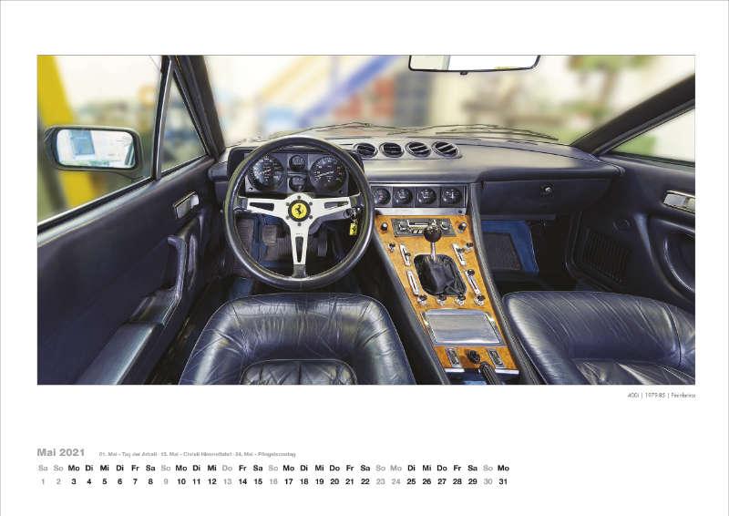 Ferrari Armaturenbrett Kalender